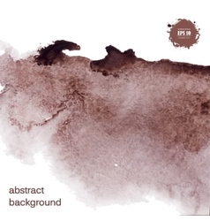 Abstract watercolor grunge brown background vector image vector image