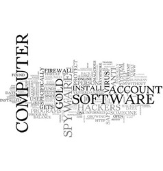 Are you safe from hackers text word cloud concept vector