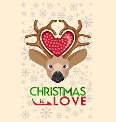 Christmas is love vector