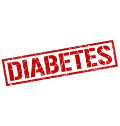 Diabetes stamp vector