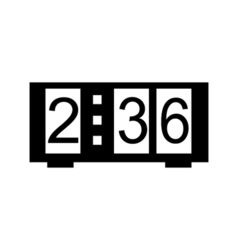 Digital clock icon vector