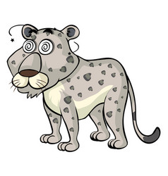 Dizzy cheetah on white background vector
