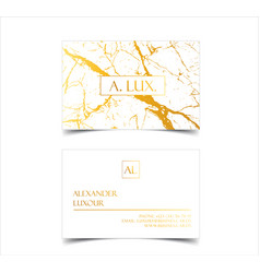 elegant white luxury business cards with marble vector image vector image