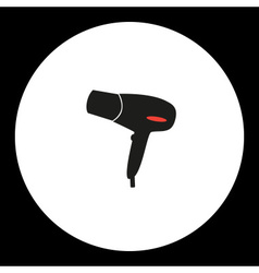 hairdryer simple isolated black and red icon eps10 vector image vector image