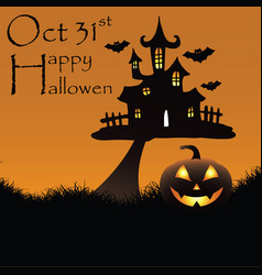 Happy hallowen background vector