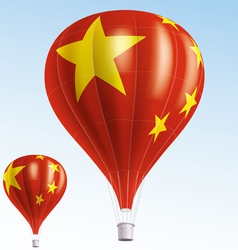 Hot balloons painted as chinese flag vector