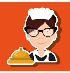 Housekeeper woman maid hotel vector