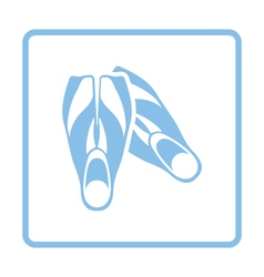 Icon of swimming flippers vector