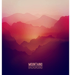 Mountains Background vector image vector image