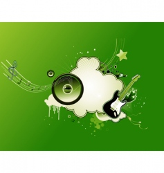 music abstract frame vector image