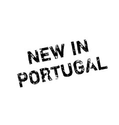 New in portugal rubber stamp vector