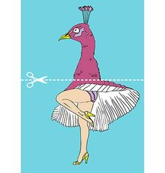 peacock head Monroe legs vector image