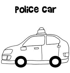 Police car art vector