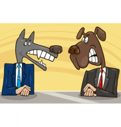 Politicians debate vector