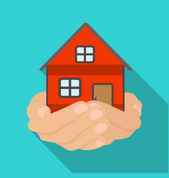 Property donation icon in flate style isolated on vector