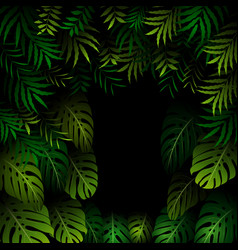 seamless exotic pattern with tropical leaves on a vector image vector image