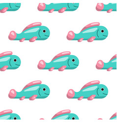 seamless pattern of fish vector image