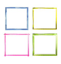 Set of watercolor color grunge frames vector