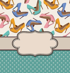 Shoes frame with border vector