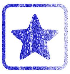 Star framed textured icon vector