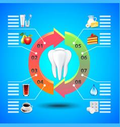 stomatology infographics on blue background vector image