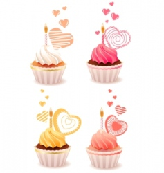 sweet small cakes vector image vector image