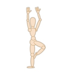 wooden mannequin movement pose vector image