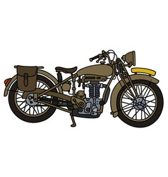 Vintage sand motorcycle vector