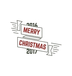 Merry christmas typography wish sign vector