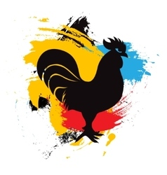 - Chinese Year of the Rooster zodiac vector image