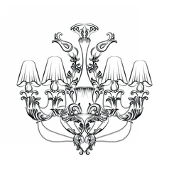 Exquisite fabulous imperial baroque chandelier vector