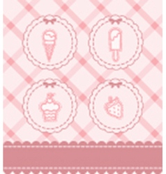 Cupcakes and coffee background vector image