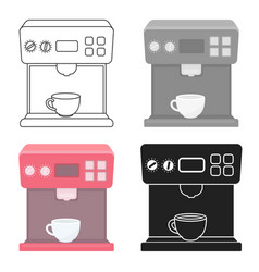 Coffeemaker icon in cartoon style isolated on vector