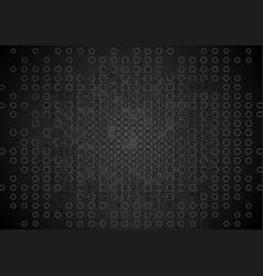 Abstract tech black hexagons texture background vector