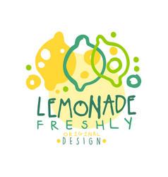 freshly lemonade logo template original design vector image