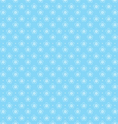 Seamless pattern of outlines white flowers vector