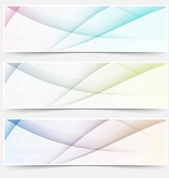 Abstract swoosh line header web footer set vector image