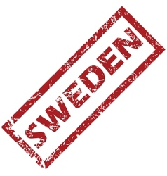 New sweden rubber stamp vector