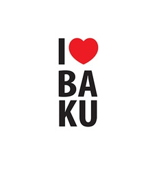 I love baku logo vector