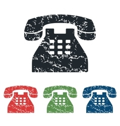 Phone grunge icon set vector