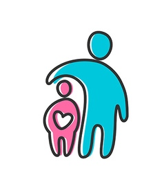 Love heart parent icon vector