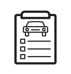 Car items checklist vector