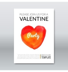 Template layout invitation valentine holiday vector