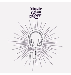 Music on line design vector