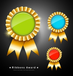 Collections colorful ribbons award vector image