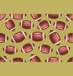 American football ball seamless pattern vector