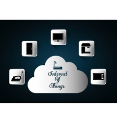 Appliances icon set Internet of things design vector image