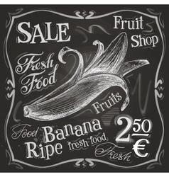 banana logo design template fresh fruit vector image