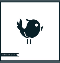 bird icon simple vector image vector image