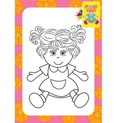 Doll toy vector image vector image